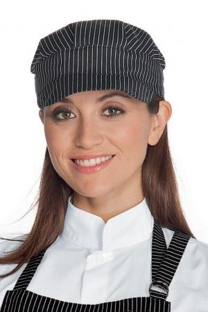 Schildmütze VIENNA - schwarz/weiß gestreift