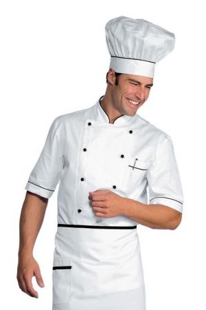 Kochjacke ALICANTE 190 - weiß/schwarz