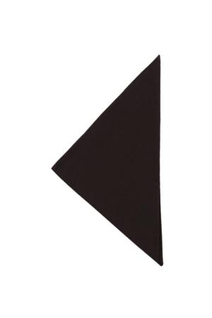 Dreiecktuch UNI 65-35 - schwarz