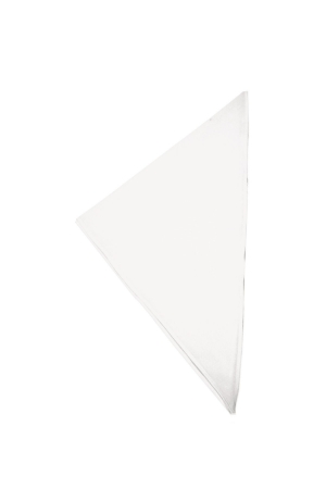Dreiecktuch UNI 80-20 - weiß