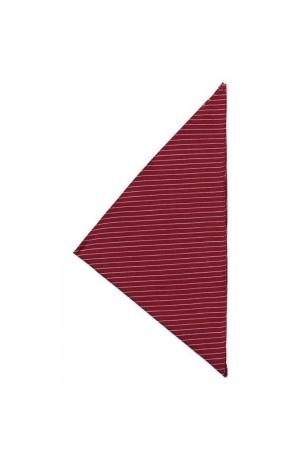 Dreiecktuch VIENNA 65-35 - bordeaux/weiß gestreift
