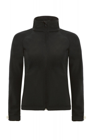 Softshelljacke HOODED WOMEN - schwarz
