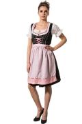 Kurzes Dirndl ISABELL - schwarz/rosa