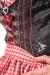 Mittellanges Dirndl ISABELL - schwarz/rot