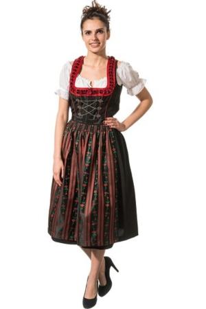 Abito folkloristico lungo HEMBERG - nero/rosso