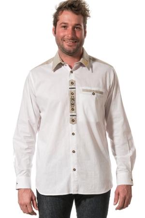 Trachtenhemd EDGAR - weiß/natur