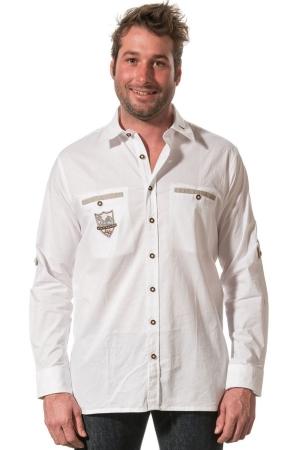 Trachtenhemd THOMAS - weiß