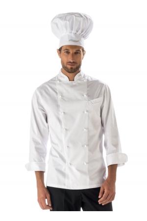 Kochjacke ITALIA - weiß/gemustert