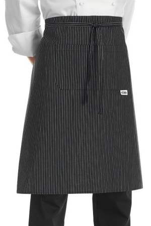 Französische Schürze TORINO 100 - schwarz/weiß eng gestreift