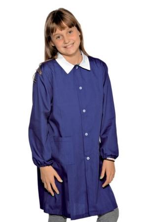 Kindermantel POLLICINO SCHOOL - dunkelblau mit weißem Kontrast
