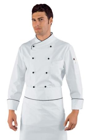 Kochjacke PECHINO - weiß/schwarz