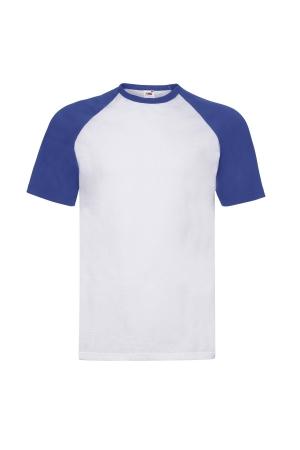 Herren T-Shirt Baseball T - weiß/königsblau