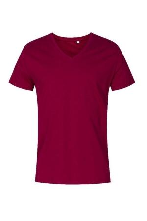 Herren T-Shirt V-Neck P1425 - berry