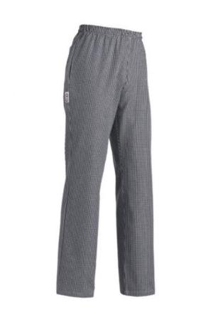 Pantalone cuoco ELEGANCE - quadretti piccoli nero/bianco