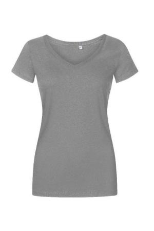 Damen T-Shirt V-Neck P1525 - steel grey