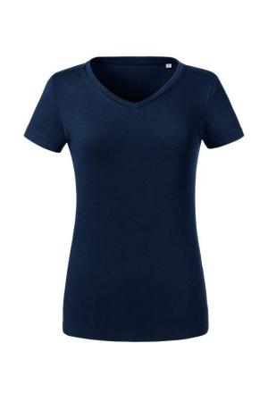 Damen T-Shirt Organic V-Neck 103F - french navy