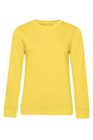 Damen Sweater Organic Crew Neck - yellow fizz