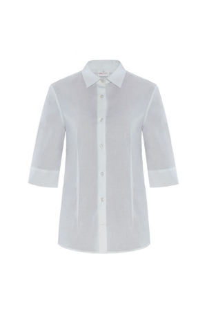 Bluse FLAVIA stretch - 3/4 - weiß