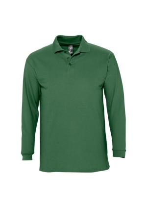Herrenpolo WINTER - dunkelgrün