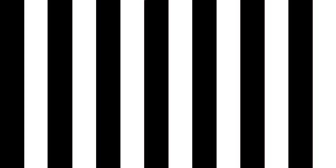 schwarz/weiß gestreift