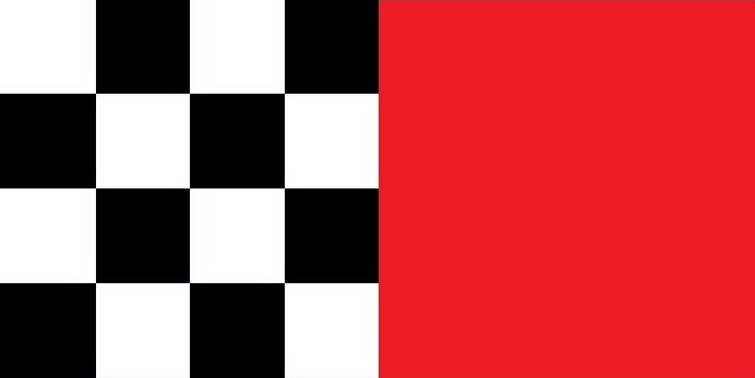 schwarz-weiß groß kariert/rot